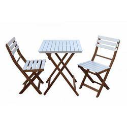 Zestaw mebli ogrodowych Bonita krzesło składane 2 szt. + stolik