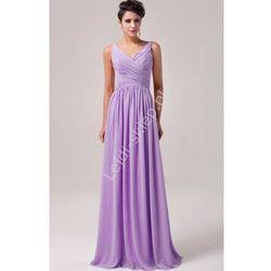 Długa fioletowa suknia na wesele | fioletowe suknie wieczorowe | sukienki dla druhen , świadkowych
