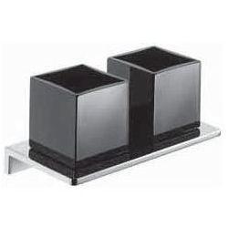 Podwójny uchwyt na szklanki Emco Asio czarne szkło 132520404