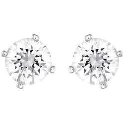 Swarovski Attract Pearl Pierced Earrings White Rhodium-plated