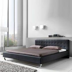MOLLY łóżko 180 cm tapicerowane czarne - czarny \ 180 x 200 cm