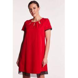 c422007a08 suknie sukienki krotka sukienka z tiulu z ozdobnymi krysztalkami ...