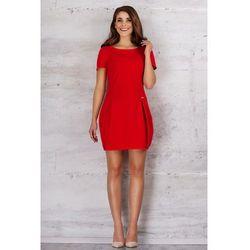 Czerwona Dziewczęca Sukienka Bombka