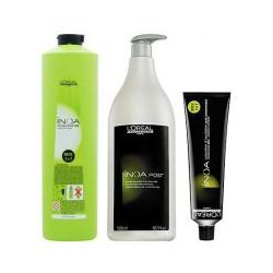 LOREAL INOA, Zestaw: farba + oxydant + szampon 5,8