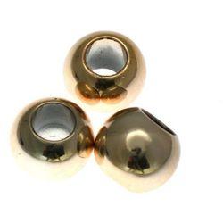 Koraliki Przekładki Akrylowe Kula Platerowane Kc Gold Złoty 18mm 2szt