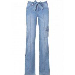 Dżinsy bojówki WIDE bonprix niebieski