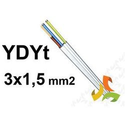 PRZEWÓD YDYt 3x1,5mm2 (TYNKOWY) / 100mb