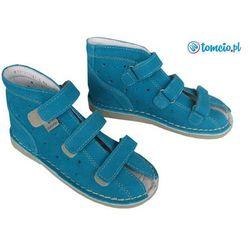 Buty profilaktyczne Danielki - wzór T115 kolor turkus