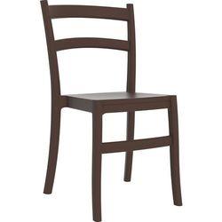 Klasyczne krzesło do ogródka restauracji lub kawiarni Tiffany brązowe