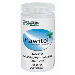FLAWITOL dla psów dorosłych Preparat witaminowo-mineralny z flawonoidami z winogron 200 tab - 200 tabletek