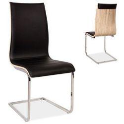 Krzesło H-133 czarny/dąb sonoma