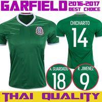 New 2016 Mexico Soccer Jersey 14 GHICHARITO 11 GARLOS V Home Green Jersey Away Football Shirt 16 17 Training Uniform Chandal