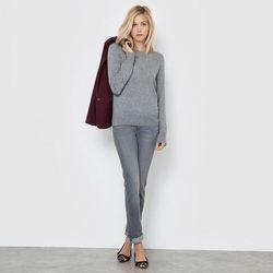 Proste dżinsy ze streczu, normalna talia, wewnętrzna długość nogawki: 81 cm.