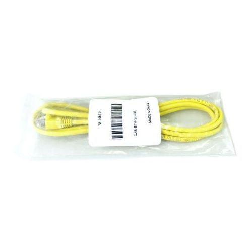 CAB-ETH-S-RJ45 Yellow Cable for Ethernet, Straight-through, RJ-45, 6 feet