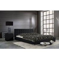 SARA eleganckie łóżko tapicerowane - czarny