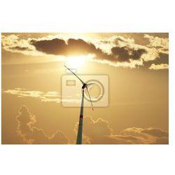 Obraz Szczegóły turbiny wiatrowej z piękne niebo