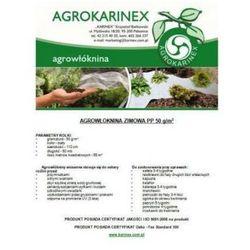 Agrowółknina zimowa PP 50 g/m2 biała 1,1 x 50 mb. Rolka o wadze 2,85 kg.