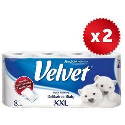 Zestaw 2x VELVET 8szt XXL Delikatnie Biały papier toaletowy