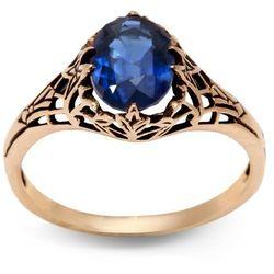 Kolekcja Wiktoriańska - pierścionek z szafirem
