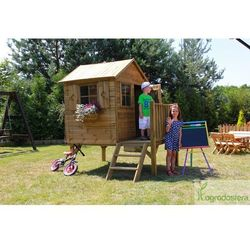 Drewniany domek dla dzieci z tarasem Tommy