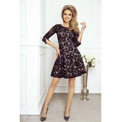 fd2dd7ef93d3 suknie sukienki rozkloszowana mini sukienka koronka szyfon k007 ...