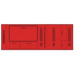 Numerki kontrolne leku recepturowego - czerwone - perforowane x 100 szt.
