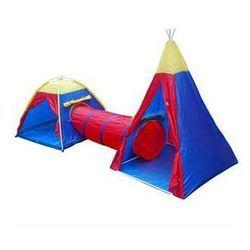 Namiot dla dzieci Acra ST10 set Czerwony/Niebieski/Żółty
