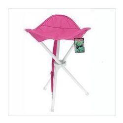 Składane krzesełko turystyczne, różowe