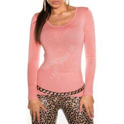 Klasyczny sweter damski koral | swetry damskie