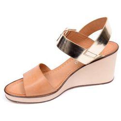 Sandały damskie Ryłko 6HH22X beżowo-złoty-NT8