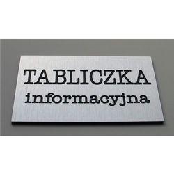 Tabliczki informacyjne na drzwi z aluminium wielkość 18x9 cm