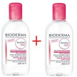 Zestaw Bioderma Sensibio H2O, płyn micelarny do oczyszczania twarzy, 250 ml - 1 + 1 GRATIS