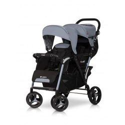 Easy Go Wózek dziecięcy bliźniaczy spacerówka Fusion Grey Fox