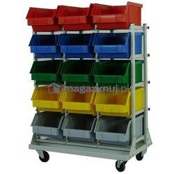 Wózek do pojemników warsztatowych, wym. 1370 x 970 x 590 mm (Pojemniki bez pojemników)