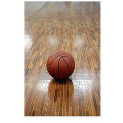 Foto naklejka samoprzylepna 100 x 100 cm - Piłka do koszykówki i parkiet