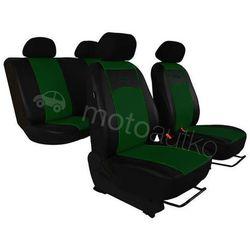 Pokrowce samochodowe uniwersalne Eko-skóra Zielone BMW Seria 1 F20/F21 od 2011 - Zielony