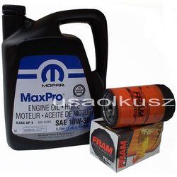 Filtr oleju FRAM oraz oryginalny olej MOPAR 10W30 Dodge Durango 3,7 V6 -2008