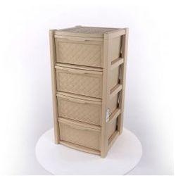 Regał szafka komoda Arianna 4 szuflady beżowy