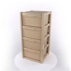 Regał szafka komoda Arianna 4 szuflady beż