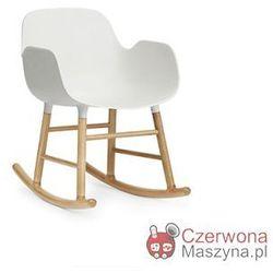 Fotel bujany Normann Copenhagen Form dąb, biały