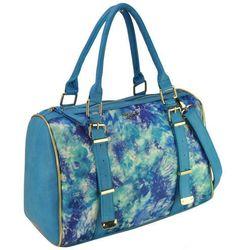 Niebieska torba damska z kolorowym nadrukiem BLUE - niebieski ||kolorowy
