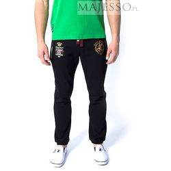 Czarne spodnie dresowe męskie SMPC Ambrose