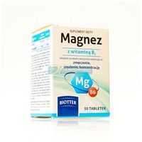 Magnez z witaminą B6 BIOTTER tabl. - 50 szt.