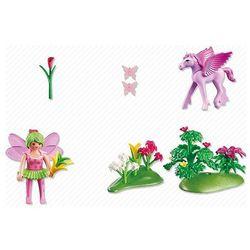 Playmobil PRINCESS Wróżka wiosenna ze źrebakiem pegaza kwiat wiśni 5351