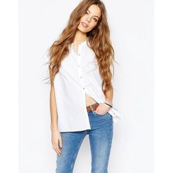 M.i.h. Jeans Button Front Shirt With Pleat Back - White