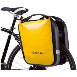 CO1009.60.87 Sakwy rowerowe Crosso DRY BIG 60l Żółte zestaw na tył