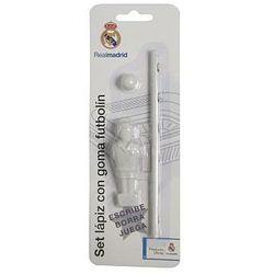 Real Madryt, ołówek i gumka Piłkarz, zestaw Darmowa dostawa do sklepów SMYK