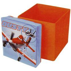 Pufa, pudełko na zabawki Disney Planes Samoloty. Pomarańczowy