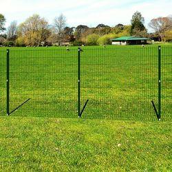 vidaXL Ogrodzenie ogrodowe panelowe ze stanowiskami 6/5/6 mm drut 163 cm długość 10 m Darmowa wysyłka i zwroty