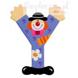 Drewniana literka Y, Clown